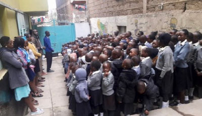 Mathare School Assembly (1)